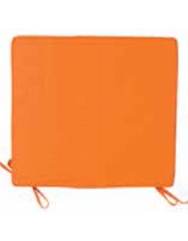 Cuscino per sedia colore arancione cm. 38x41 - arredo casa giardino