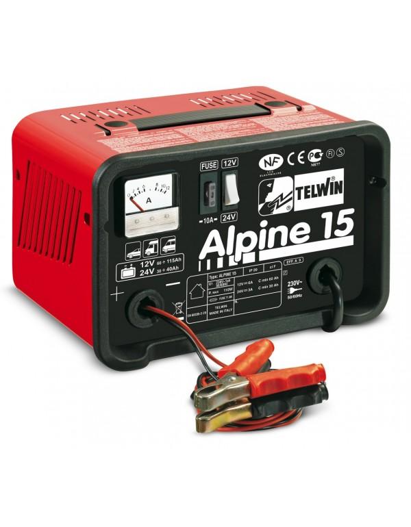 Caricabatteria TELWIN protezione sovraccarico - Mod. ALPINE 15