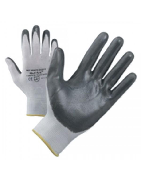 Guanti da lavoro nylon palmo nitrile NBR 13 ECO conf 12 paia tg 7