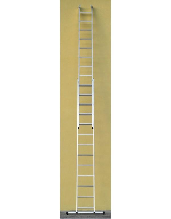 Scala combinata VENUS 2x13 alluminio 2 elementi h 400-690 cm EN 131/1-2