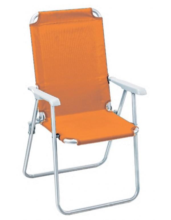 Sedia Sdraio Katia.Poltrona Pieghevole Serie Katia Struttura In Accaio Colore Arancione Sedia Giardino Mare Campeggio