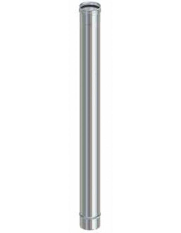 Tubo per stufa a pellet in acciaio inox cm. 100 diametro cm. 8 - impianto riscaldamento casa