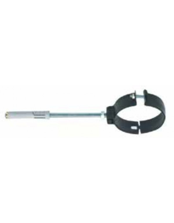 Collare porcellanato pesante per tubi stufa verniciato nero opaco diametro cm. 12 - impianto riscaldamento casa