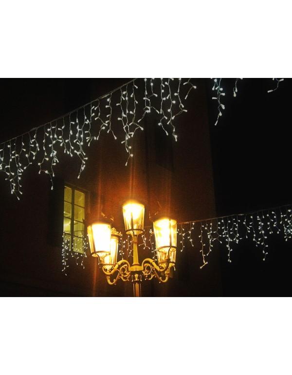 Cascata luminosa 210 luci LED bianco cm. 300x100 per uso interno ed esterno - luci albero decori Natale