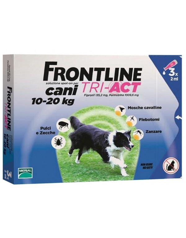 FRONTLINE TRI-ACT Cani e gatti kg 10/20 conf 3 pipette SPOT-ON
