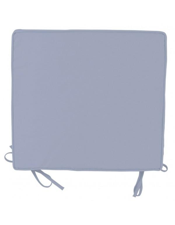 Cuscino tondo coprisedia colore grigio perla diametro cm 38x41 Mod BOX