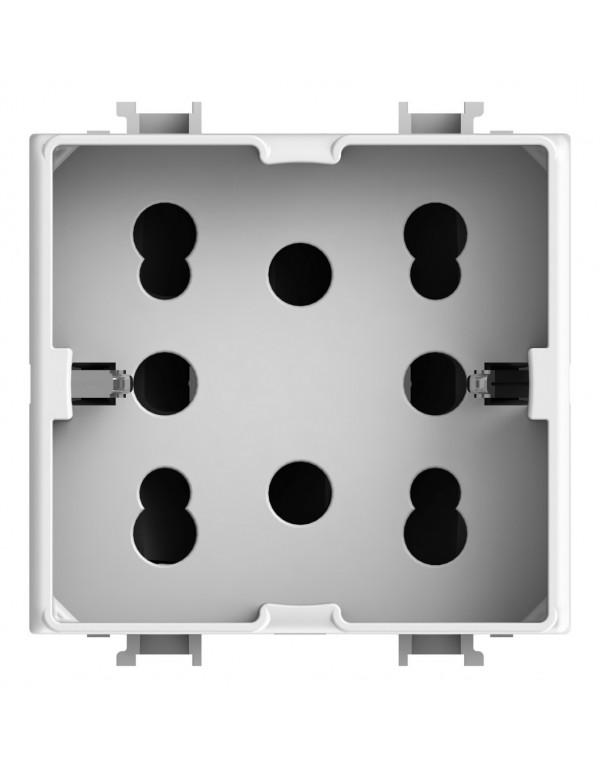 Presa universale 2 bipasso + schuko 10/16A per serie Bticino Matix