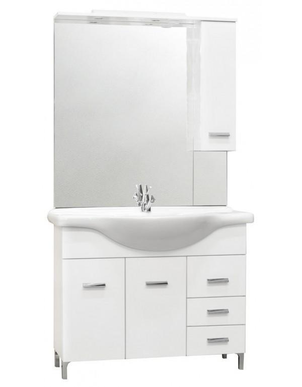 Mobile bagno completo truciolare laccato bianco cm 105 Mod DIANA ...