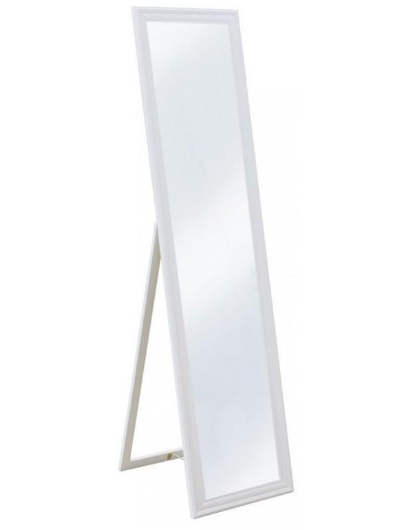 Specchio a pavimento struttura legno laccato bianco cm 40x160h