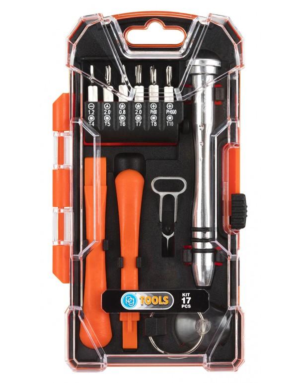 Kit riparazione smartphone e pc PG-TOOLS conf 17 pz Art PG17A