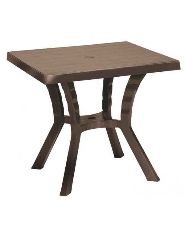 Tavolo da giardino in resina tipo rattan cm 80x80 Mod FIGARO