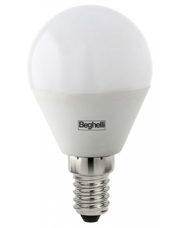 Lampadina LED Mod SFERA BEGHELLI 5W E14 luce fredda 6500K Art 56819