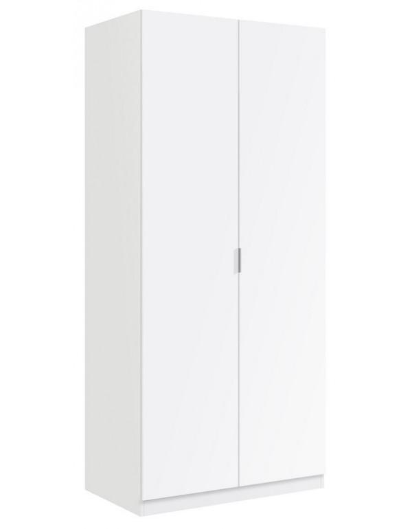 Armadio 2 ante colore bianco cm 81x52x180h Linea URBAN