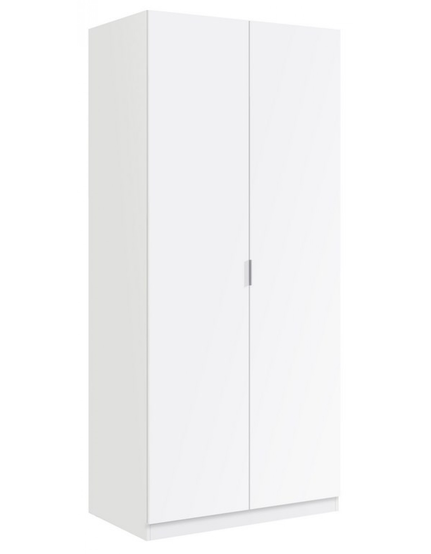 Armadio 2 ante colore bianco cm 81x52x180h Linea URBAN - Armadi ...