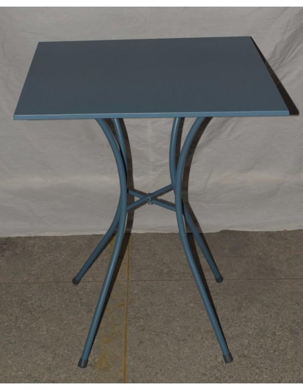 Tavolo acciaio verniciato azzurro cm 60x60x72h Mod LUNA