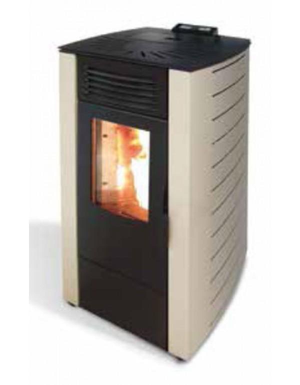 Stufa a pellet Mod. King 12 sabbia 2.6-9.0 kW 270 m³ - riscaldamento casa arredo interni
