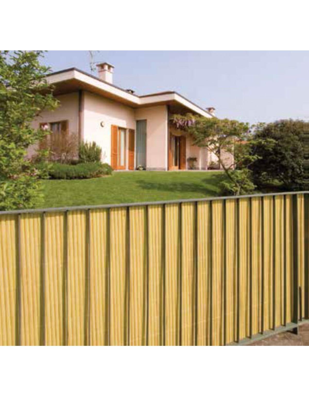 Recinzioni Per Giardino In Pvc.Arelle Doppie Bamboo In Pvc Colore Verde Cm 300x100h Per Giardino