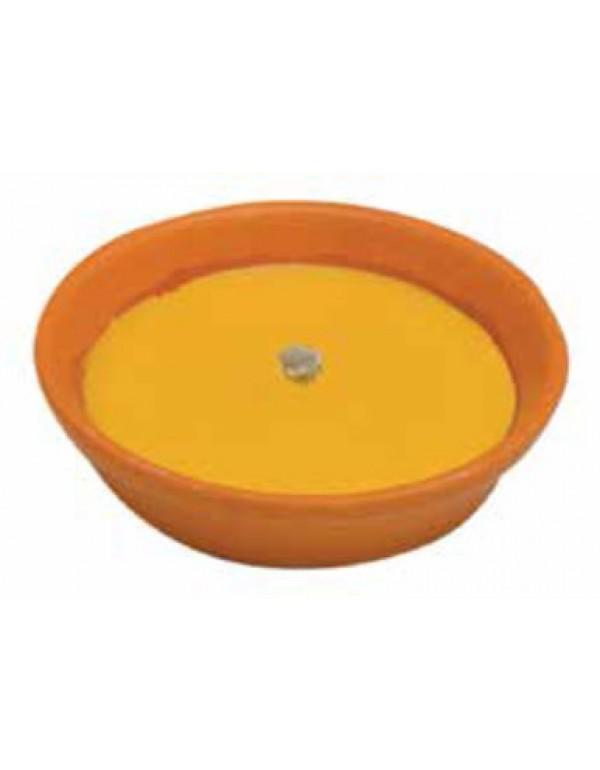 Citronella con ciotola in coccio e stoppino antivento diametro cm. 14 - casa giardino