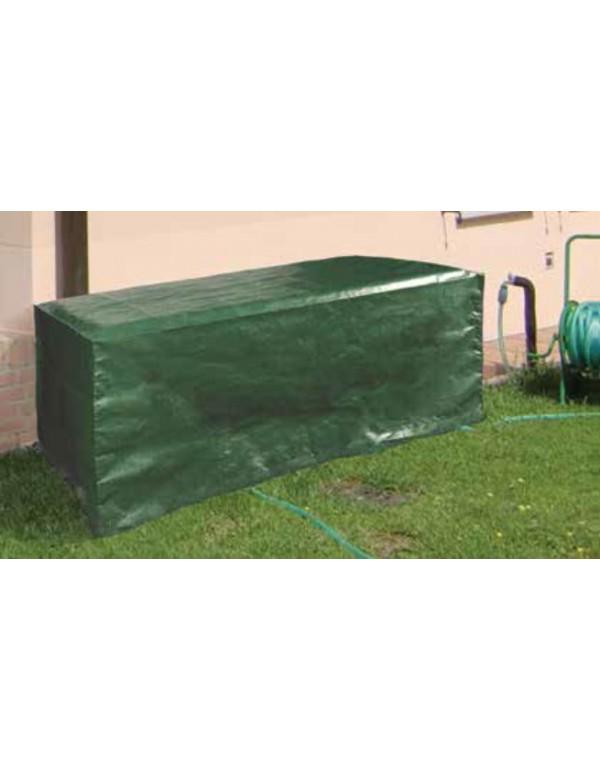 Copertura per tavolo rettangolare in poliestere cm. 150x100x70h - arredo casa giardino