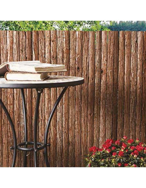 Frangivista in corteccia naturale cm. 300x200h per giardino balcone cancello recinzione