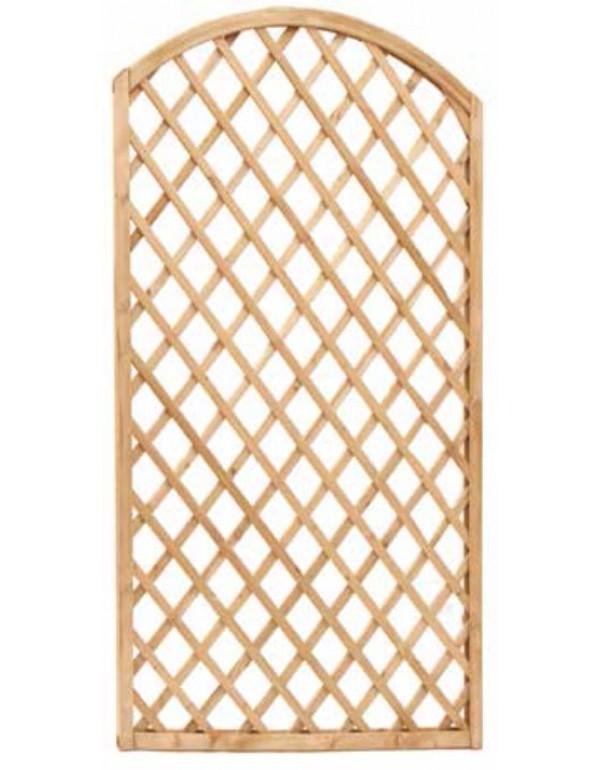 Pannello grigliato con arco combinabile in legno di pino cm. 90x180 - arredo casa giardino balcone
