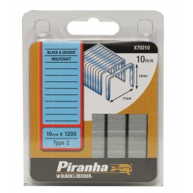 Graffette 10 mm PIRANHA 1200 pz graffatrice sparapunti - Mod. X70210
