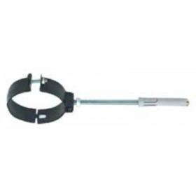 Collare per tubi stufa a pellet nero satinato diametro cm. 8 - impianto riscaldamento casa