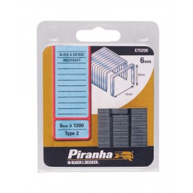 Graffette 6 mm PIRANHA 1200 pz graffatrice sparapunti - Mod. X70206