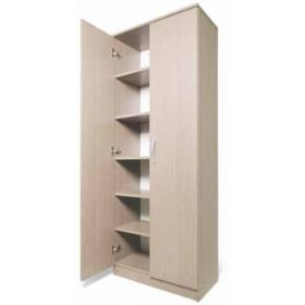 Armadio Scarpiera a 2 ante e 5 ripiani larice grigio cm. 71x38x182h - arredo casa mobile bagno