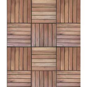 Pavimento a piastrelle in legno balau conf. Pz. 5 su supporto in resina cm. 30x30 - arredo casa  giardino piscina