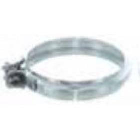 Fascetta di giunzione per tubi stufa a pellet in acciaio inox diametro cm. 8 - impianto riscaldamento casa