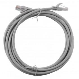 Cavo LAN UTP plug RJ45 / RJ45 grigio rotolo 3 m conduttività standard