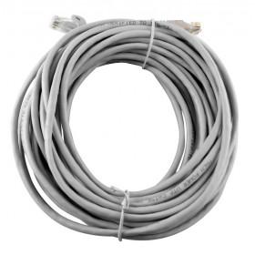 Cavo LAN UTP plug RJ45 / RJ45 grigio rotolo 20 m conduttività standard