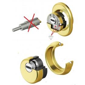Protezione serrature DEFENDER oro lucido Mod MONOLITO KRIPTON BKS 200