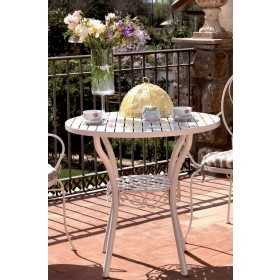 Tavolo tondo Mod. Naomi in ferro battuto ø cm. 80x75h - arredo casa giardino