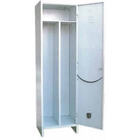 Kit armadio spogliatoio a 3 scomparti in lamiera verniciata grigio con serratura cm. 50x50x175h - arredo casa ufficio balcone garage condominio
