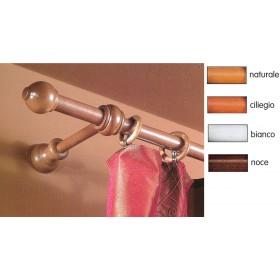 Bastone a strappo per tende ø 23 mm colore ciliegio lunghezza 160 cm