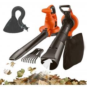 Aspiratore Soffiatore elettrico Black&Decker con kit raccolta foglie potenza 3000 W sacco da 50 l Mod. GW 3050 - casa giardino prato