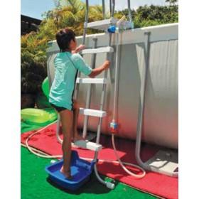 Bacinella piedi per piscine fuori terra con incastri compatibili con scalette tubolari