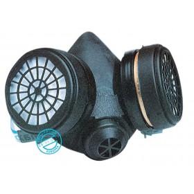 Maschera di protezione respiratore 2 filtri gomma antiallergica 755A1