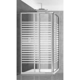 Cabina doccia 2 ante in cristallo serigrafato 3 mm ad estensione regolabile cm 68/80 x 79/90 - box arredo bagno