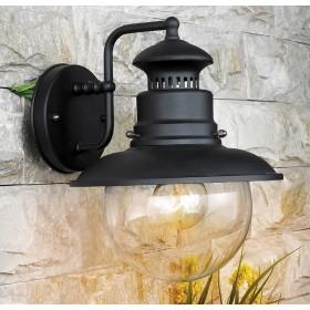 Lanterna Mod. Marina in acciaio verniciato con globo in vetro per lampada da 60 W - casa giardino