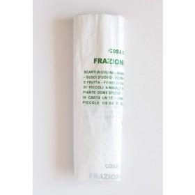 Sacchi biodegradabili nettezza urbana cm 50x60 bianchi 10 conf da 15 pz