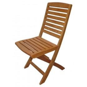 Sedia pieghevole Serie Victor in legno balau finitura ad olio cm. 50x42x90h - arredo casa giardino
