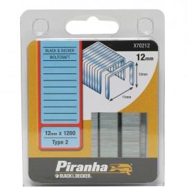 Graffette 12 mm PIRANHA 1200 pz graffatrice sparapunti - Mod. X70212