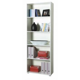 Libreria 5 vani bianca mobile componibile cm. 70x30x197h made in Italy - arredo casa ufficio