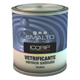 Smalto all'acqua effetto vetrificante ICORIP trasparente satinato 750 ml