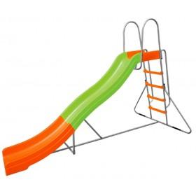 Scivolo in acciaio verniciato gioco per bambini cm. 150x317x204h - arredo casa giardino
