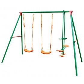 Altalena a 3 tiro in acciaio verniciato gioco per bambini - arredo casa giardino