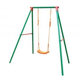 Altalena a 1 tiro in acciaio verniciato gioco per bambini - arredo casa giardino
